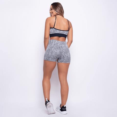 Short-Fitness-Jacquard-Mosaico-Preto-SH202