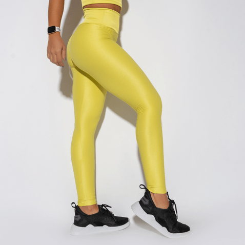 Legging-Fitness-Amarela-Canelada-Luminous-LG1340