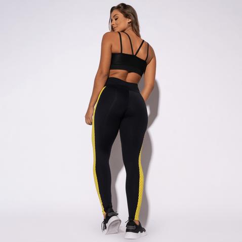 Legging-Fitness-Preta-Textura-Amarela-LG1363
