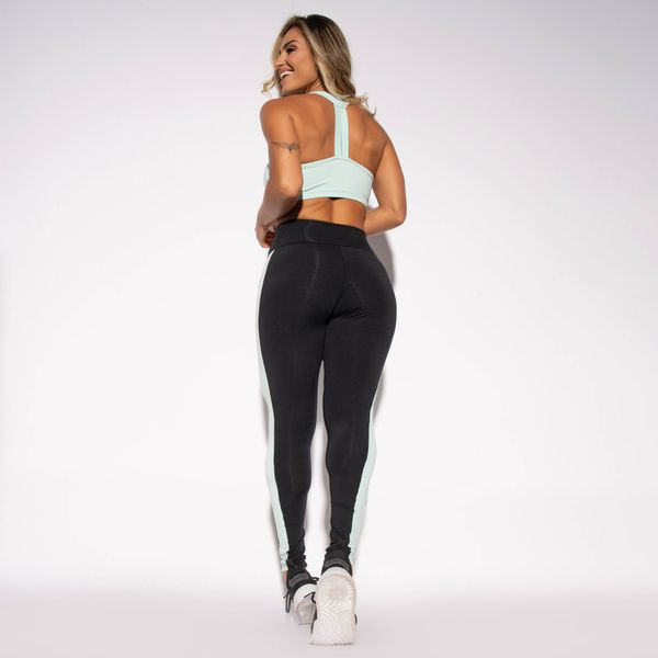 Legging-Fitness-Preta-Poliamida-Recorte-Verde-Agua-LG1452