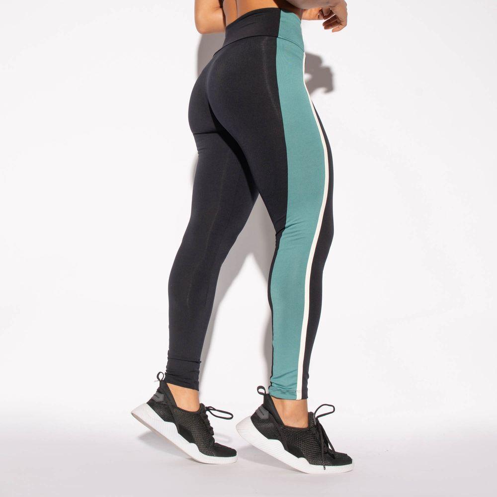 Legging-Preta-Poliamida-Recorte-Cos-Verde-LG1460