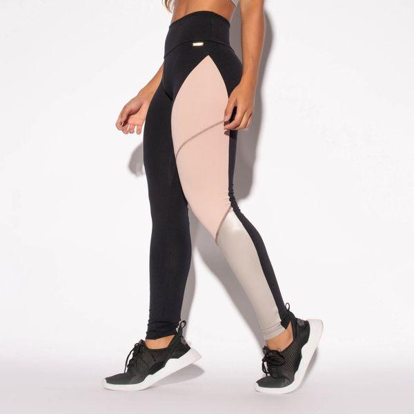 Legging-Preta-Poliamida-Recorte-Lateral-Rosa-e-Prata-LG1464