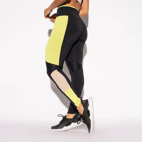 Legging-Preta-Poliamida-Recorte-Lateral-Verde-e-Textura-LG1467