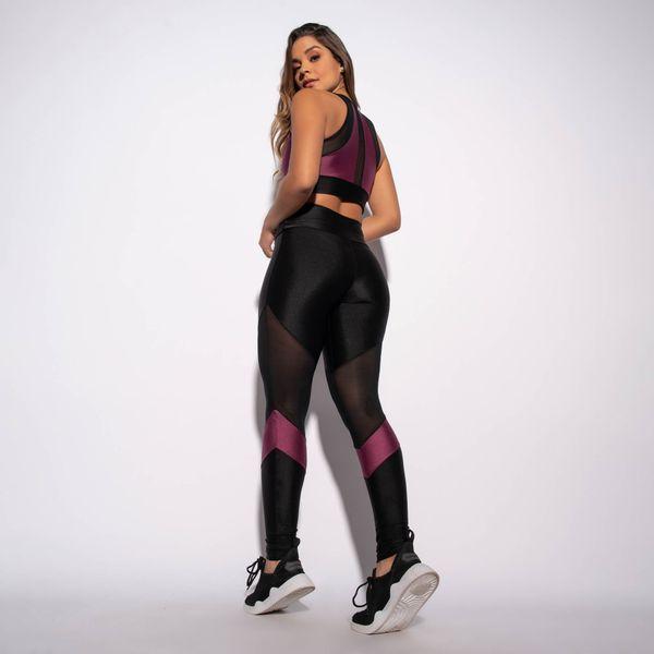 Legging-Fitness-Preta-com-Recorte-Roxo-e-Tule-LG1537