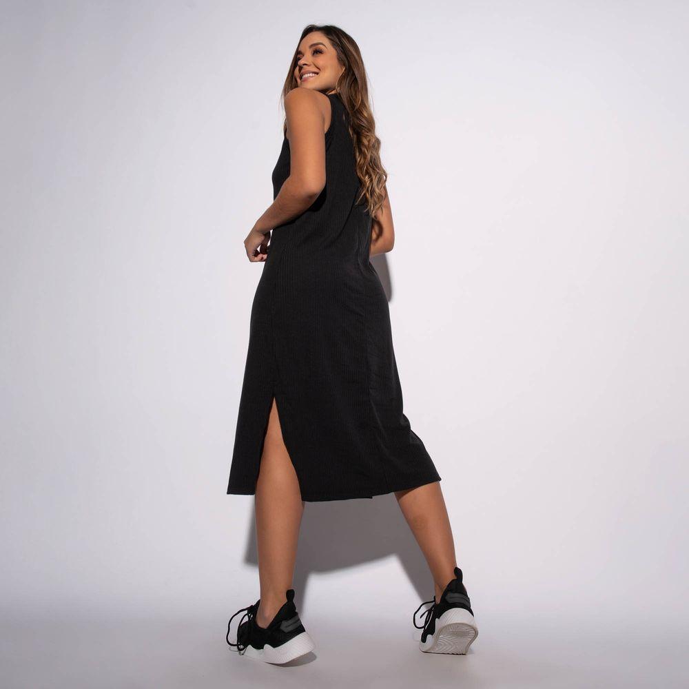 Vestido-Canelado-Preto-com-Fenda-VT060