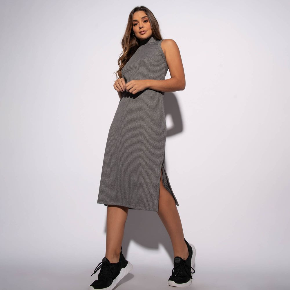 Vestido-Canelado-Mesclado-com-Fenda-VT061