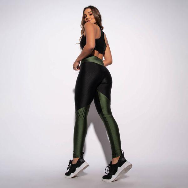 Legging-Fitness-Preta-com-Recorte-e-Cos-Verde-Militar-LG1540