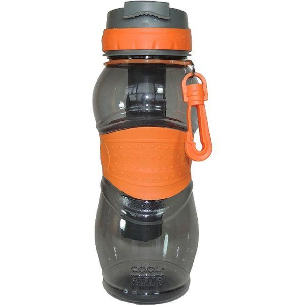 Squeeze-com-Bastao-de-Gel-Riviera-650ml-Cinza-e-Laranja-SQ017