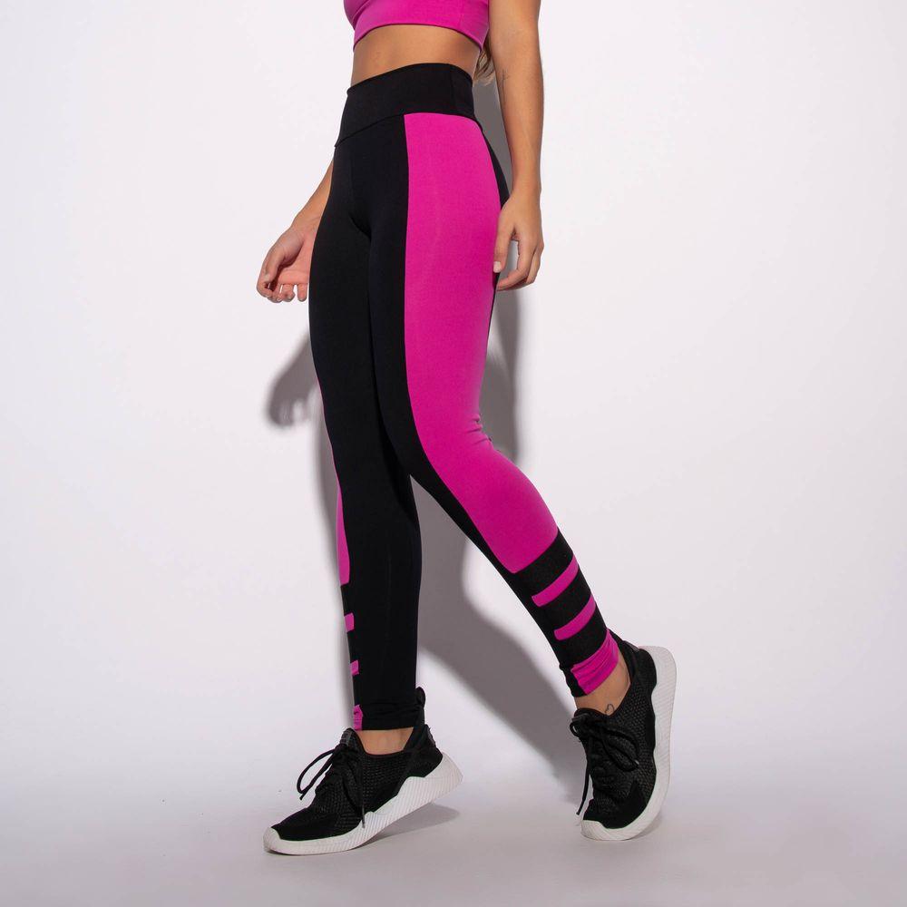 Legging-Fitness-Preta-com-Recorte-Rosa-e-Elasticos-LG1567