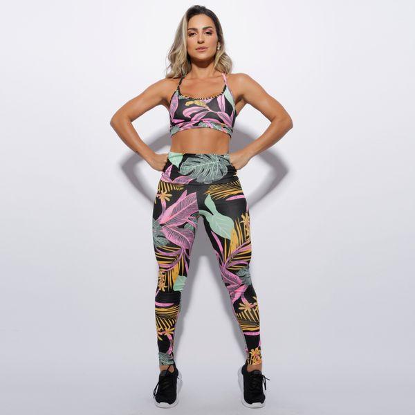 Conjunto-Fitness-Cintura-Alta-Preto-Folhas-CO148
