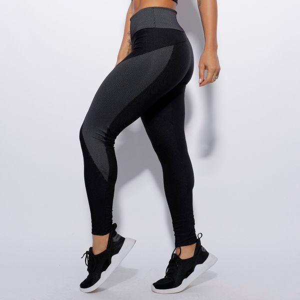 Legging-Fitness-Preta-com-Recorte-Xadrez-LG1535