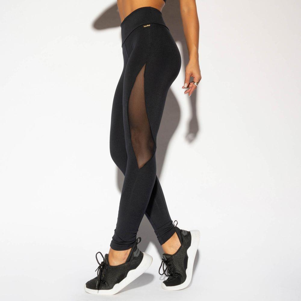 LG1666-Legging-Fitness-Preta-Recorte-Lateral-em-Tule