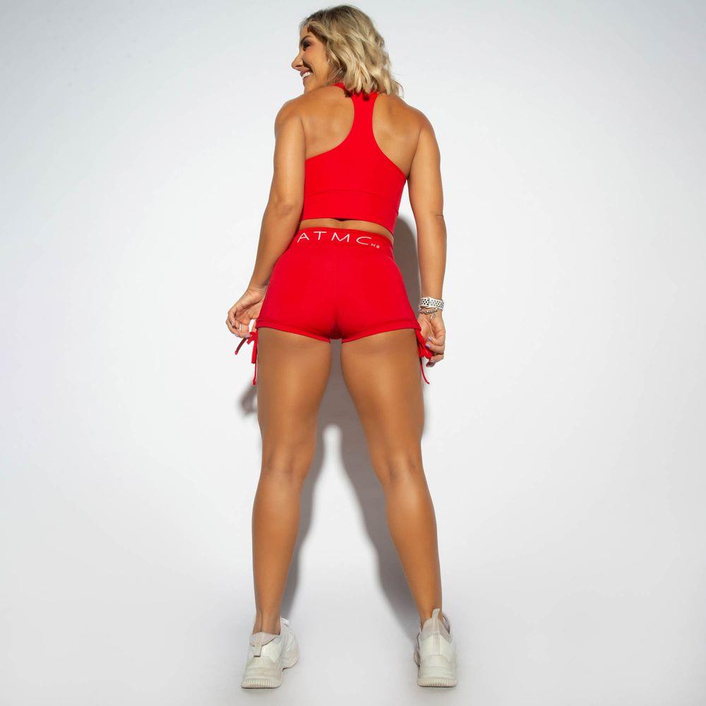 Short-Cintura-Alta-Vermelho-Franzido-com-Cadarco-Atomic-SH365