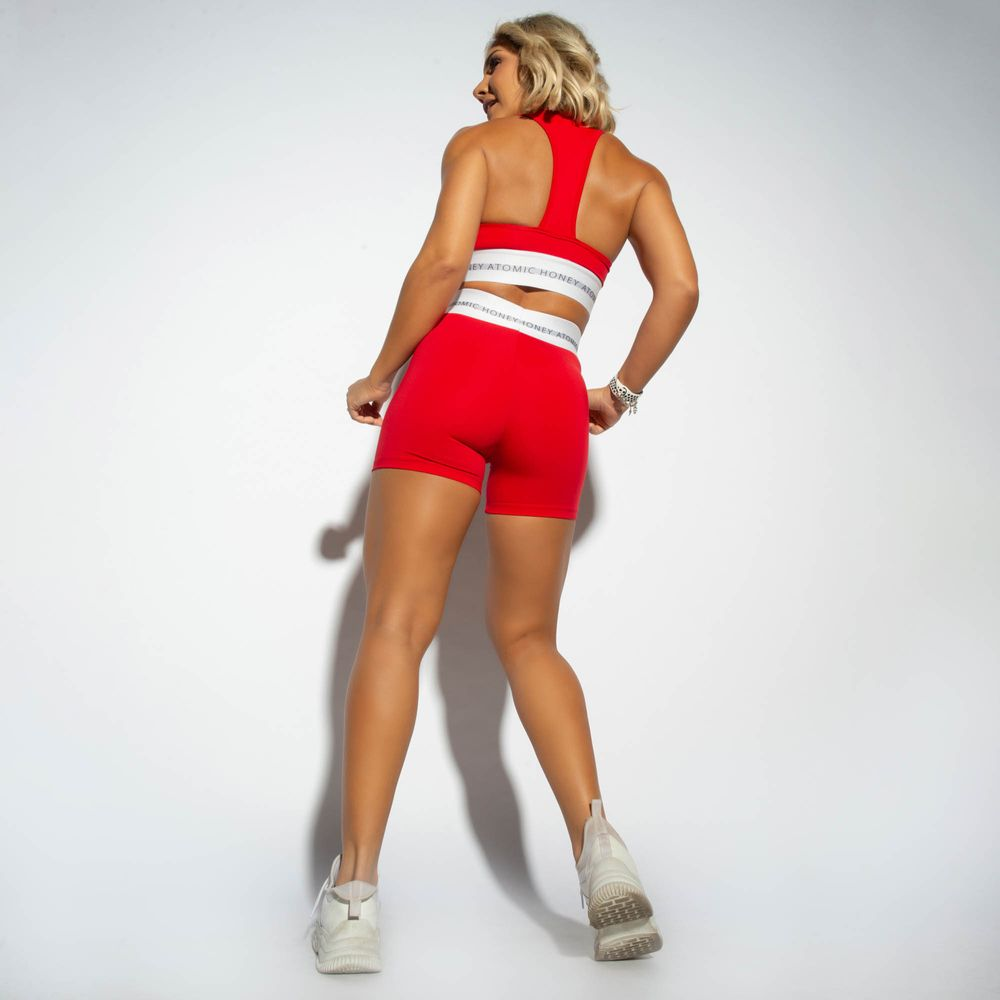 Short-Cintura-Alta-Fitness-Honey-be-Vermelho-SH349