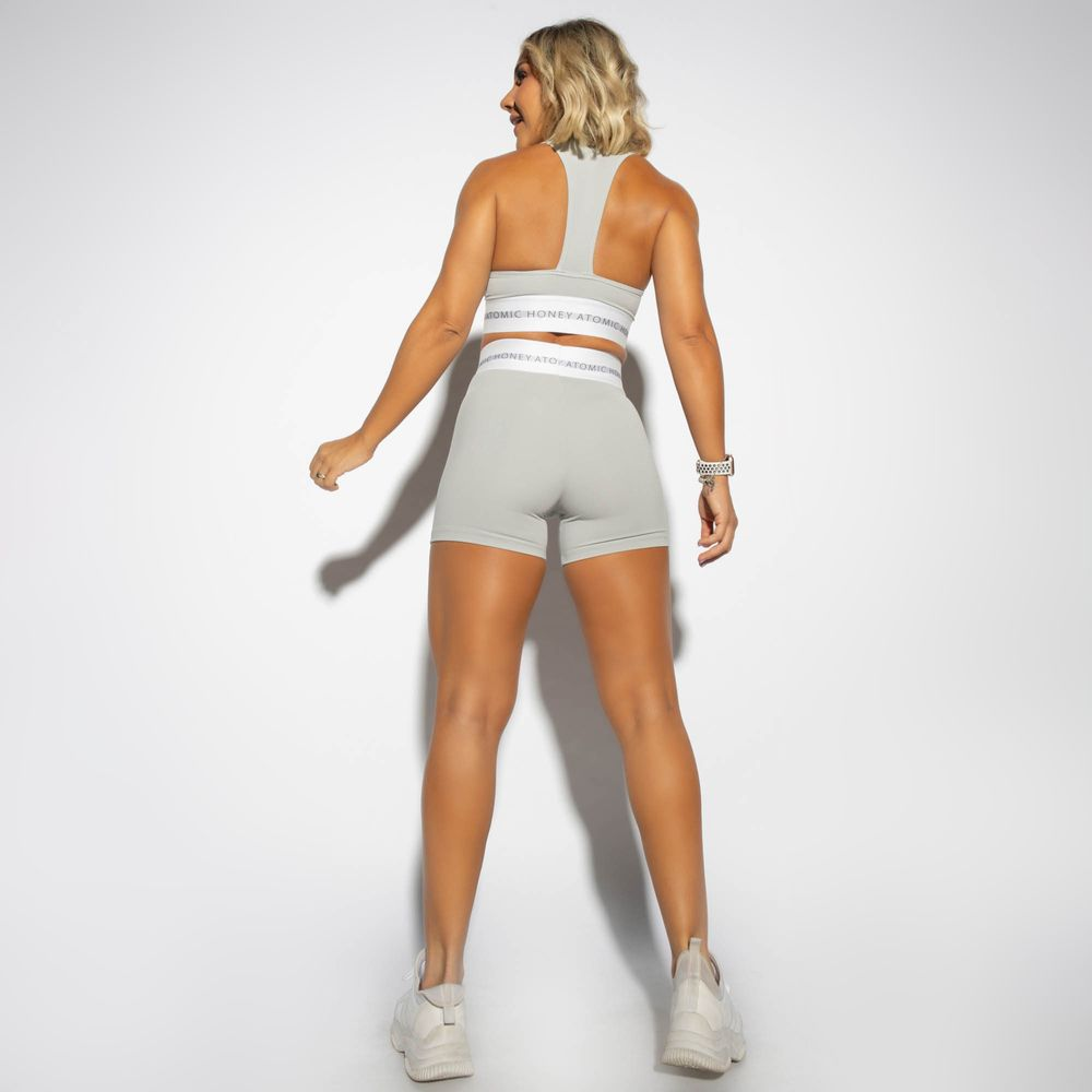 Short-Cintura-Alta-Fitness-Honey-be-Cinza-SH348