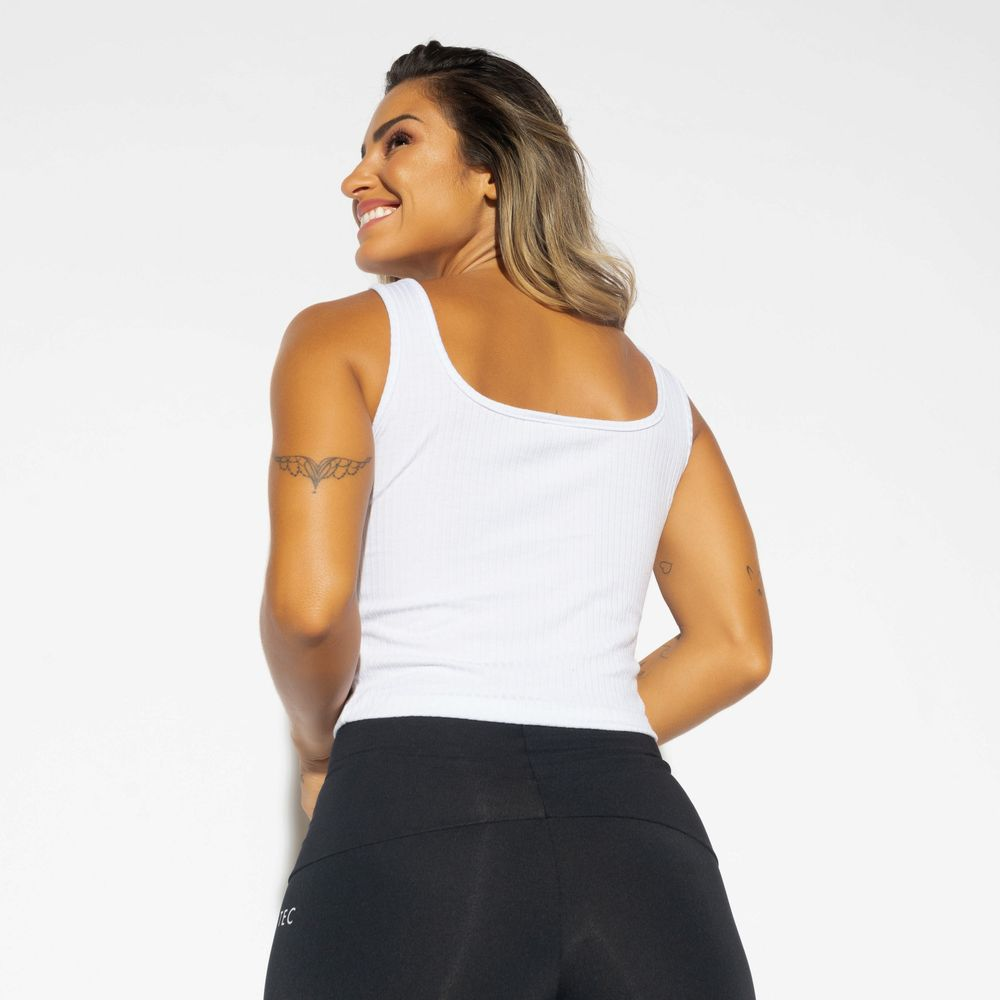Cropped-Regata-Fitness-Canelado-Branco-CR116
