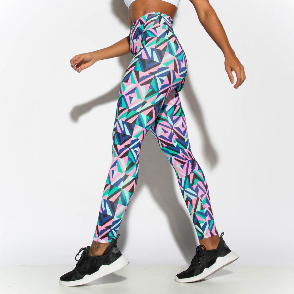 Legging-Fitness-Estampada-Verde-Geometric