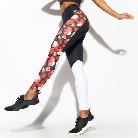 Legging-Fitness-Cos-Duplo-Floral-Preta-LG1815