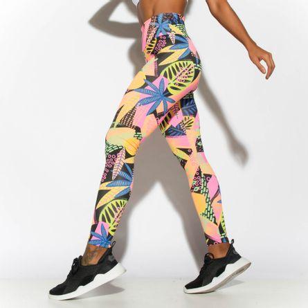 Legging-Cintura-Alta-Fitness-Preta-Folhas