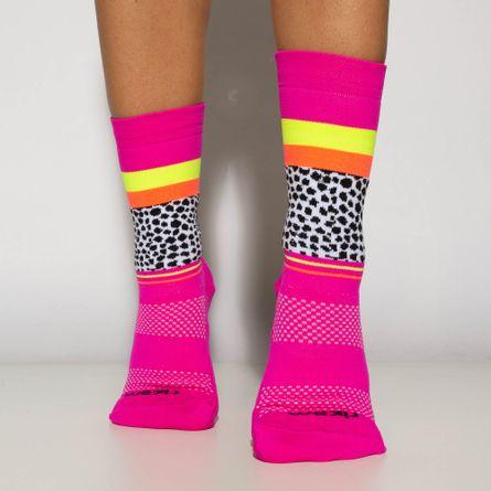 Meia-Feminina-Pink-Cano-Medio-Bike-Running-Nº-34-a-39-ME528