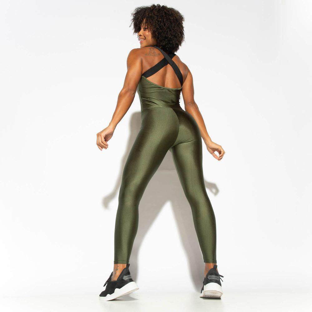 Macacao-Fitness-Fuseau-Verde-Militar-Gloss-MC220