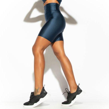Bermuda-Fitness-Cintura-Alta-Azul-Marinho-Gloss