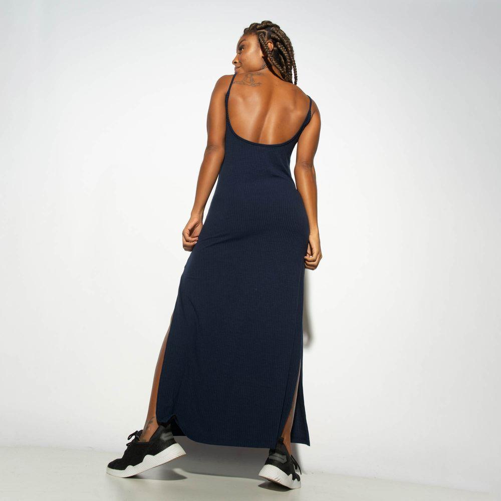 Vestido-Canelado-Azul-com-Fenda