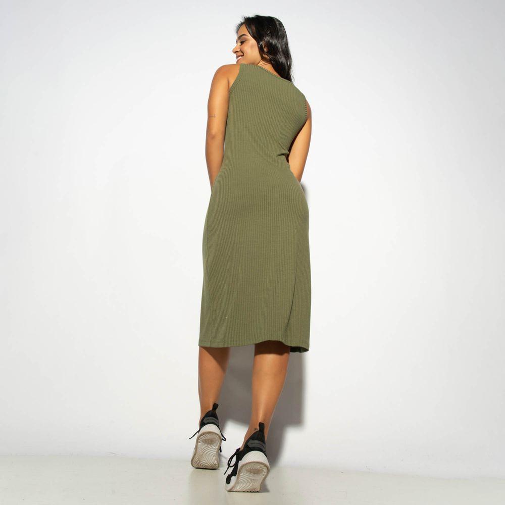 Vestido-Canelado-Verde-com-Botao-