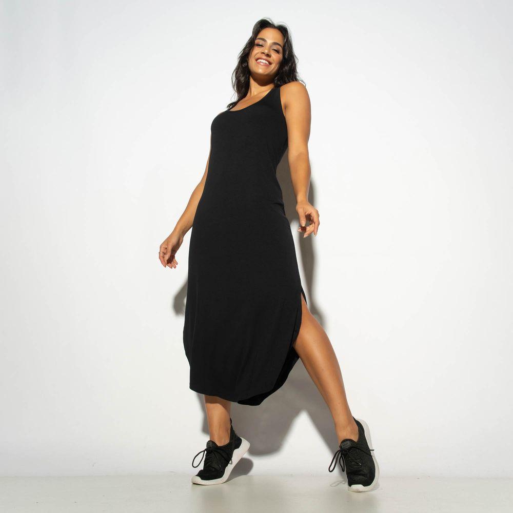 Vestido-Liso-Preto-com-Fenda